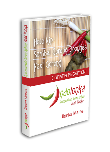 Ebook indolonka - 3 gratis recepten - nasi goreng - hete kip - sambal goreng boontjes